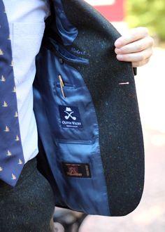 Pen pocket with gold Cross pen