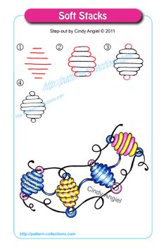 Drawing Flowers Soft Stacks by Cindy Angiel - Zen Doodle Patterns, Doodle Art Designs, Zentangle Patterns, Zentangle Drawings, Doodles Zentangles, Doodle Drawings, Tangle Doodle, Tangle Art, Pattern Drawing