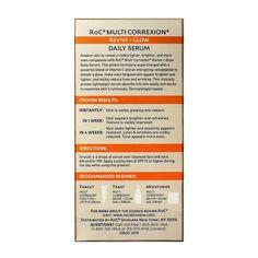 RoC Multi Correxion Revive - Vitamin C Glow Daily Serum - 1.0 Fl Oz : Target Reduce Under Eye Bags, Tighter Skin, Vitamin C Serum, Bright Skin, Anti Aging Serum, Even Skin Tone, Skin Elasticity, Good Housekeeping, Combination Skin