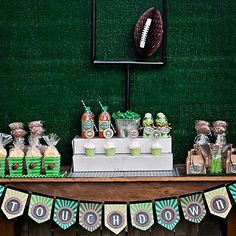 "Photo 5 of Sports- Football / Birthday ""Touchdown"" Kids Party Themes, Party Ideas, Theme Parties, Football Desserts, Football Birthday, Sports Birthday, Sports Party, Football Banquet, Fall Football"