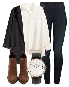 """Untitled #4520"" by laurenmboot ❤ liked on Polyvore featuring Mother, H&M, Shoe Cult and Daniel Wellington"