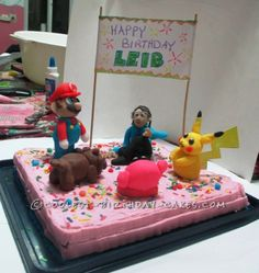 Coolest Pokemon Friends Cake ... This website is the Pinterest of birthday cakes