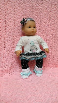 AMERICAN GIRL Bitty Baby Clothes Owl Love 15 inch by TheDollyDama