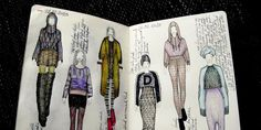 Fashion Sketchbook drawings & annotation