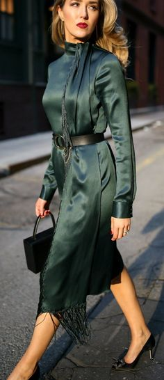 dc43aeb5aa1 The One Accessory I Cannot Live Without    Emerald Green long sleeve midi  dress with