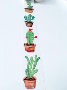 Washitape mit Kakteen, Kaktus, Pflanzen, Flora / cactus masking tape, diy projects, crafting, urban jungle made by Monique's Welt via DaWanda.com