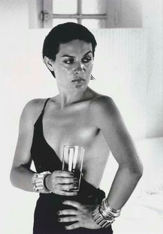 Helmut Newton - Paloma Picasso, St. Tropez (from the Classic Portfolio) | From a unique collection of black and white photography at http://www.1stdibs.com/art/photography/black-white-photography/ A CLASSIC!