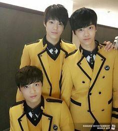 Jeno w/ Dongyhyuk(now known as Haechan) & Jaemin .