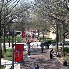 Temple University Bell Tower and Pollet Walk