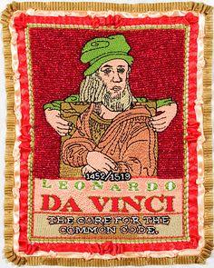Leonardo da Vinci/Embroidery/8.5 Inches x 10.5 Inches/2006 michaelaaronmcallister.com