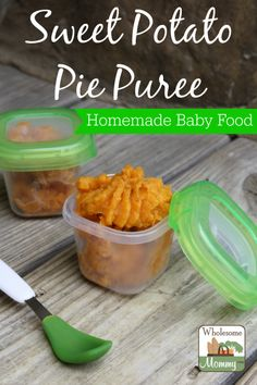 Sweet Potato Pie Puree and some great tips on how to introduce your baby to solids by @denisesawyer #FirstBites
