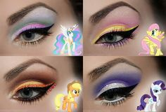 My Little Pony Inspired Eye Makeup these designs are adorable!! But in my mind only for Cosplay! :( our inventions keep me thinking panem is a lot closer a future than our continent is willing to accept.