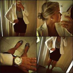 Watch+ shoes+ blazer+ skirt OF180812+(by+Linda+Juhola)+http://lookbook.nu/look/3898678-OF18-812