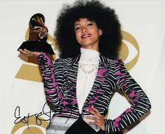 ESPERANZA SPALDING signed (GRAMMY AWARD) 8X10 photo MUSIC *JAZZ* W/COA Esperanza Spalding, Jazz, Awards, Grammy Award, Blazer, Jackets, Women, Fashion, Musica