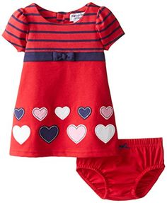 cameretta tortora : Hartstrings Baby-Girls Newborn Heart Knit Ponte Dress and Panty Set ...