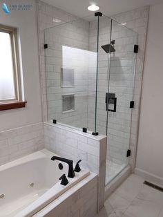 Master Bathroom Shower, Bathroom Renos, Bathroom Layout, Bathroom Interior Design, Bathroom Renovations, Small Bathroom, Bath Shower, Bathroom Ideas, Glass Shower Enclosures