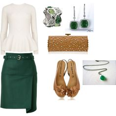 """""""Emerald Green and Browns"""" by jessicawhite on Polyvore"""