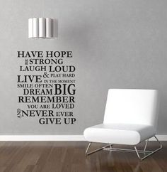 Wall Stencil Quotes on Pinterest Wall Stickers Quotes