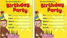 Curious George Birthday Party Printables - http://www.pbs.org/parents/birthday-parties/curious-george-birthday-party/printables/