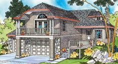 Craftsman House Plan 69428 Elevation