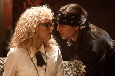 """Tom Cruise as Stacee Jaxx in """"Rock of Ages"""" (with Malin Akerman as Constance Sack) [""""Put Cinderella on the phone. She stuck her tongue in my ear. She blew my world up.""""]"""