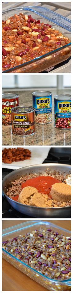 Calico Beans are my go-to dish for potlucks and parties.  With a pound of bacon, you can't go wrong!