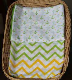 Mint Nautical Crib Sheets by MangoGroveDesigns on Etsy