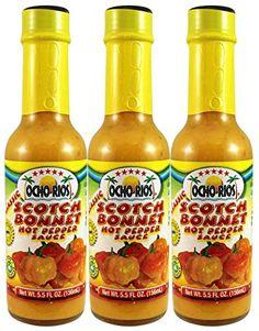 Scotch Bonnet Hot Pepper Sauce Pack of 3 55 oz Jar  Ocho Rios -- Click image for more details.