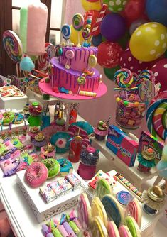 New Birthday Party Ideas Candy Land Sweet 16 Ideas Candy Theme Birthday Party, Candy Land Theme, 6th Birthday Parties, Candy Land Party, Candy Theme Cake, Candy Land Decorations, 25 Birthday, 2nd October Birthday, Candy Party Themes