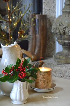 Ironstone Christmas Vignette - Housepitality Designs