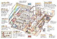 「えんやの銭湯イラストめぐり」シリーズ、第1回は「交互浴の聖地」としても有名な、高円寺・小杉湯を紹介します。 Drawing Interior, Japanese House, Facebook Sign Up, Illustration, Architecture Design, City Photo, Infographic, Digital, Bath
