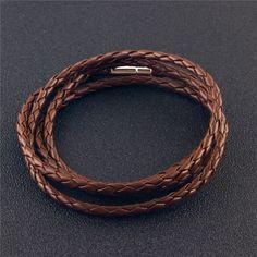 17 (5) Bangle Bracelets, Bangles, Vintage Accessories, Vintage Fashion, Mens Fashion, Chain, Leather, Black, Jewelry