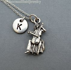 Cello necklace cello player cellist by ShortandBaldJewelry on Etsy
