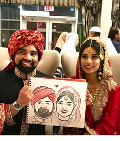 A colored couples caricature done from Niloo the caricature artist at a recent celebration Caricature Artist, Toronto, Celebration, Portrait, Couples, Illustration, Color, Headshot Photography, Colour