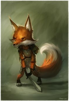 Fox With A Sword by John Thacker JohnThacker