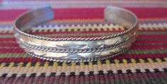 Navajo Bracelet Vintage Sterling Silver Cuff by by PGSCoins