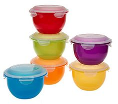 Etonnant Lock U0026 Lock 6pc Multi Color Bowl Storage Set With Lids