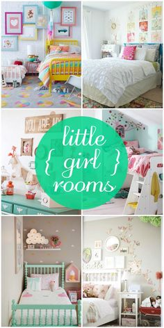Room Inspiration A roundup of gorgeous little girl rooms sure to give you some inspiration! Check it out on { }A roundup of gorgeous little girl rooms sure to give you some inspiration! Check it out on { } Big Girl Bedrooms, Little Girl Rooms, Little Girls Room Decorating Ideas Toddler, Toddler Girl Rooms, Small Girls Bedrooms, Toddler Bed, Daughters Room, Child Room, My New Room