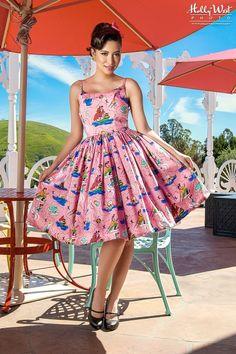 Jenny Dress in Neverland Sateen