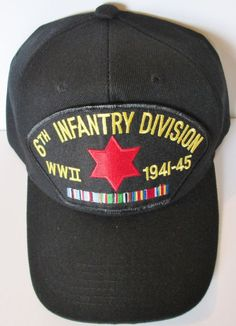 6TH INFANTRY DIVISION  WORLD WAR II  W/ CAMPAIGN RIBBON BALL CAP/HAT #MILPRO #BallCap