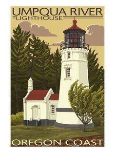 Umpqua lighthouse Illustrated 12/15