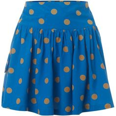 Therapy Spot flippy style skirt ($7.07) ❤ liked on Polyvore featuring skirts, mini skirts, saias, blue, dot skirt, rayon skirt, flippy skirt, short pencil skirt and short skirts