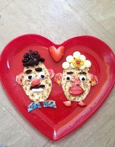 This Mr and Mrs Potato Head #pancake creation is awesome! #prizepancake