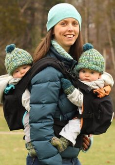 Got twins? Pregnant with twins? Our twin baby carrier is also two single-child baby carriers so you have options! Twin Baby Boys, Twin Mom, Twin Girls, Twin Babies, Cute Babies, Baby Twins, Twin Baby Gifts, Newborn Twins, Baby Baby