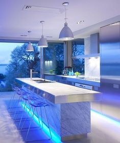 56 Ideas Kitchen Colors Contemporary Light Fixtures For 2019 Building A House, Modern Kitchen Design, House Interior, Custom Kitchen Island, Modern House Design, House, Modern House, Decor Interior Design, Best Kitchen Lighting