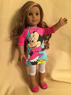 Minnie Mouse Outfit for American Girl Dolls by ItIsSewYou on Etsy