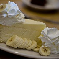 Banana Cream Cheesecake from The Cheesecake Factory. Enough said.