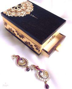 Beauty of Mandala, treasure box. #pyrography #woodburning #koyripyrogaphy