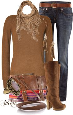 """Sweater, boots and jeans"" by jackie22 on Polyvore"