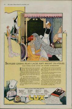 Vitage Laundry Detergent   LUX 1919 Vintage Magazine Laundry Soap Ad (1021)